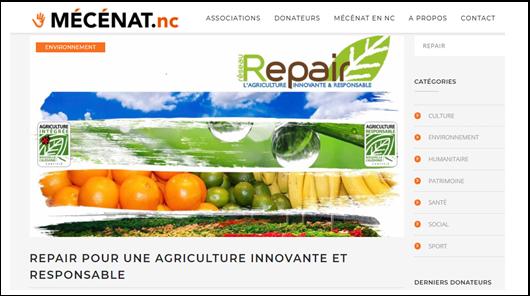 mécénat + repair + agriculture + responsable